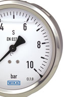 Bourdon tube pressure gauges by WIKA