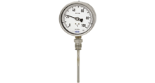 Gas-actuated thermometers