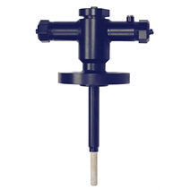 High-temperature thermocouple with additional protection from sapphire glass