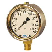 Bourdon tube brass pressure gauge for hydraulic and upstream oil and gas applications.