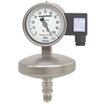 Absolute pressure gauge with electrical output signal