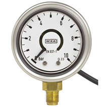 intelliGAUGE, Bourdon tube gauge with electrical output signal