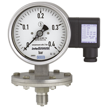 Diaphragm pressure gauge with electrical output signal