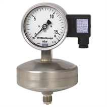 Capsule pressure gauge with electrical output signal
